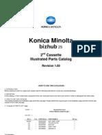 Bizhub 25 2Nd Cassette Parts Manual