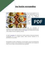 La Cocina Fusión Novoandina.