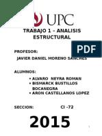 Informe Estructura de Armadura