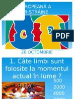 Chestionar Ziua Europeană a Limbilor Străine