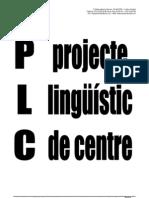 PLC Projecte lingüístic de centre