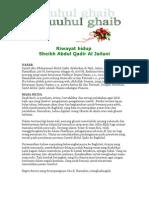 Futuhul Ghoib, Mutiara Karya Seorang Sufi Besar Sheikh Abdul Qadir Al-Jailani