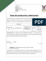 Sistema de Produccion y Fabricación