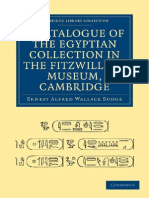 A Catalogue of the Egyptian Collection in the FitzWilliam Museum, Cambridge - E.a. Wallis Budge