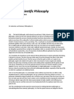 Notes on Scientific Philosophy