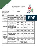 Weekly Curriculum October 26-30 '15