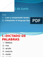 Clase de Lenguaje (1 Junio )