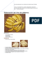 Elaboración de Vino de Plátano