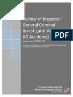 Inspector General Criminal Investigator Academy  igciatvareview2010