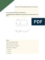Método de Cross - Porticos