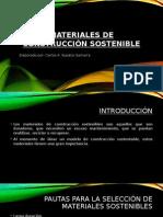 Materiales de Construcción Sostenible