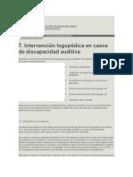 Intervencion Logopedia Discapacidad Auditiva