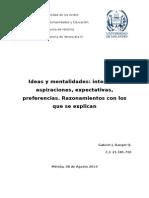 Ideas y Mentalidades Venezolanas