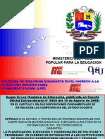 PRESENTACION SOBRE LA PRUEBA VOCACIONAL VENEZUELA