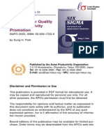 Six Sigma for Quality and Productivity Promotion