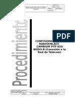 Procedimiento de Configuración RE CAMBIUM PTP 650 NODO B