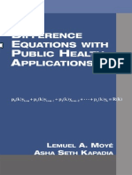 Difference Equations With Public Health Applications - Moye Kapadia