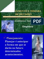PLANEJAMENTO E TOMADA DE DECISÕES