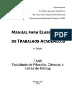 Manual Para Elaboração de Trabalhos Acadêmicos - Faibi 2013