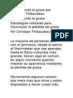 Destruyendo La Grasa Por Christian Thibaudeau