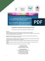 Programa v Coloquio y II Jornadas ALEDAR 2011