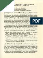 Una Contribución a La Bibliografía Sobre Cultura Náhuatl