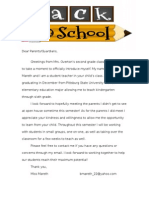 student teaching welcome letter