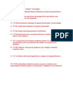 AUTOEVALUACION Unidad 1 Psicologia