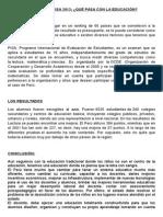 Resultados Pisa 2013