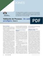 Article Validacioacuten de Procesos Un Cambio de Paradigma Parte II Www.farmaindustrial.com