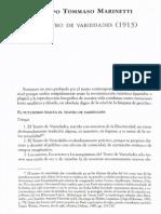 Filippo Marinetti- El Teatro de Variedades
