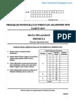 Kertas 2 Pep Percubaan SPM Kedah 2011 soalan