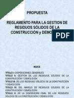 17Gestión Ambiental en La Construcción Propuesta ReglamentoRESIDUOS SOLIDOS Construcción