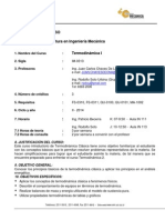 Programa IM-0313 Termodinamica
