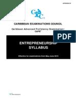 CAPE Entrepreneurship