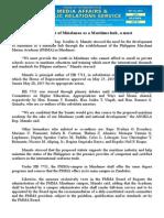 oct24.2015 bDevelopment of Mindanao as a Maritime hub, a must