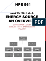 Overview of Energy Sources