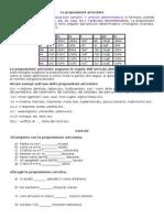 Le Preposizioni Articolate-Articolo Partitivo