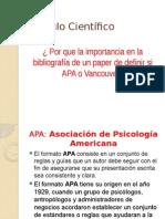como utilizar las normas Vancouver y APA  para bibliográfia en artículos cientificos