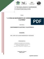 Unidad 1 Mantenimiento Electrico y Electronico