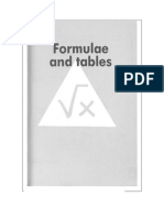 Formulas and Table