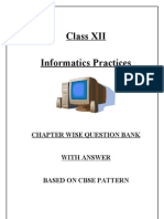 Info. Prac.Chapter Wise Questions With Ans.