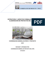 Estructura Para La Elaboracion de Proyectos Del Pnfcc 29-05-15