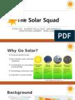 business communication team presentation - solar squad