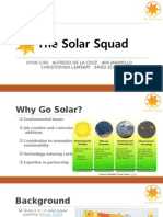 business communication team presentation - solar squad