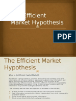 The Efficient Market Hypothesis