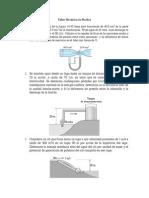 Taller Mecánica de Fluidos- Estabilidad y Ecuacón de Benoulli