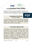 employment first policy summary scdd cecy
