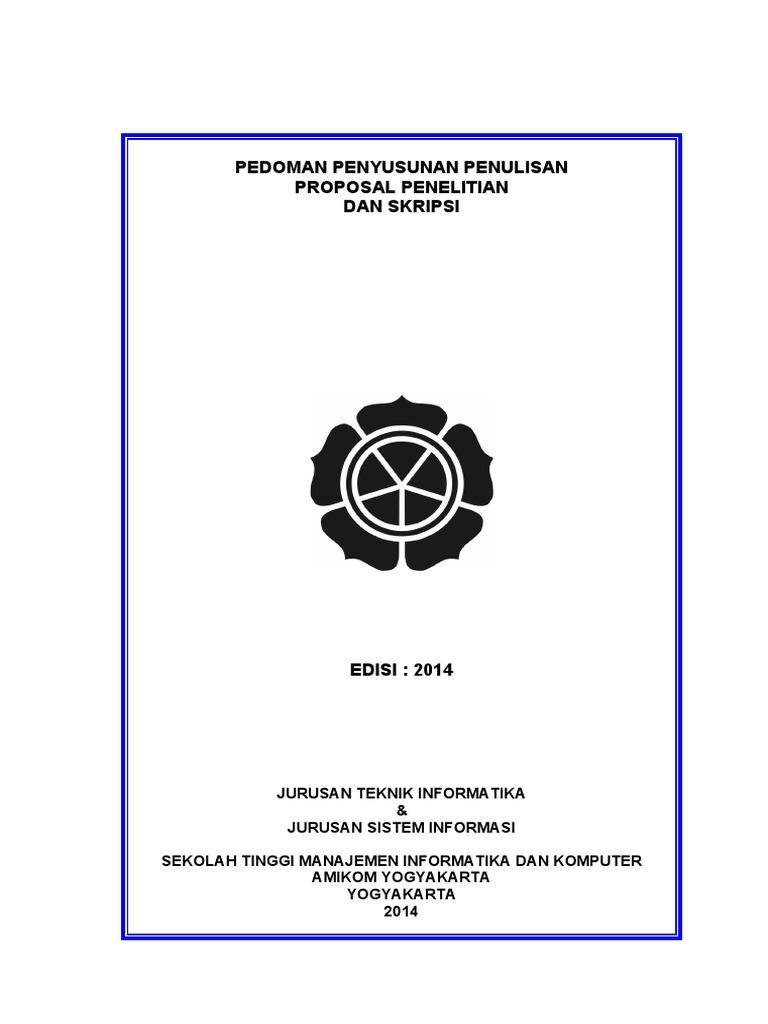 Skripsi Amikom Yogyakarta Ide Judul Skripsi Universitas