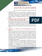 Solucionario Del Examen de la Ley general de Mineria del Peru